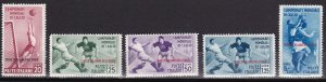 Italian Colonies Aegean Islands 1934 Scott # 31-35 Soccer Issue MLH 35 NH