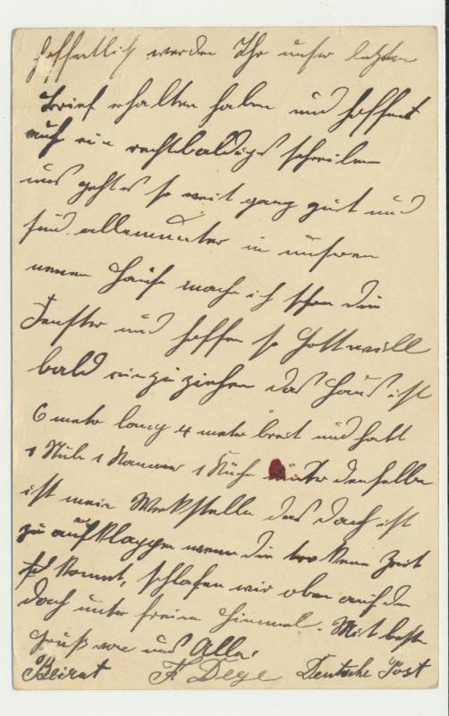GERMAN OFFICES IN LEVANT 1914 10c CARD BEIRUT TO DUDERSTADT