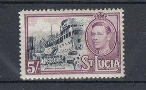 St Lucia KGVI 1938 5/- SG137 MH J8521