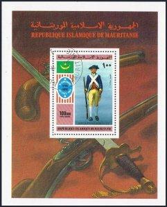 Mauritania C163,CTO.Michel 533 Bl.14. American Bicentennial,1976.Uniforms.