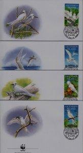Ascension 725-28 FDC WWF-99/Birds