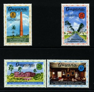 GUYANA 1967 Complete Independence Anniversary Set SG 416 to SG 419 MNH