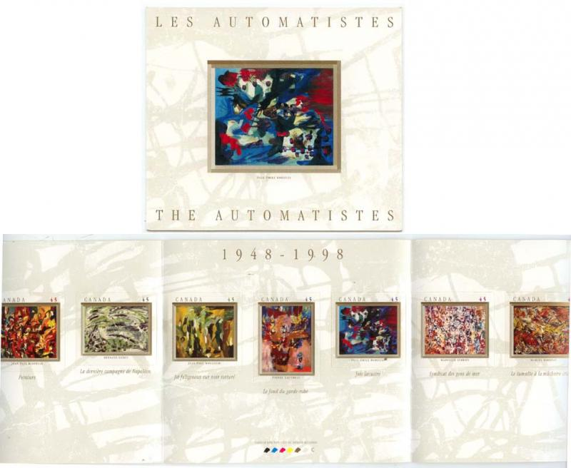 Canada - 1998 Artists Les Automatistes Booklet #BK209a