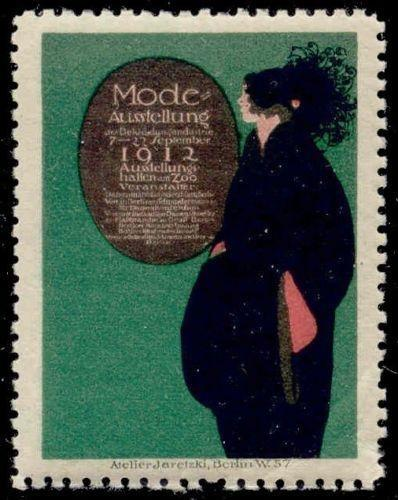 Germany 1912 Berlin Fashion Expo Poster Stamp