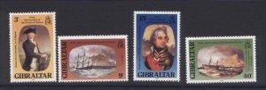 Gibraltar 394-7 MNH Horatio Nelson, Warship