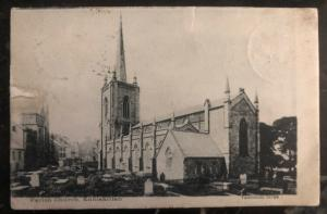 1904 Kiltyclogher England RPPC Postcard Cover To Berlin Germany Parish Church