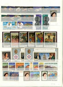 COOK ISLANDS; QEII early 1960s-80s Accumulation fine Mint & used LOT