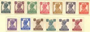 India SC# 168-79 SG# 265-77 George VI MNH