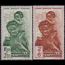 NEW CALEDONIA 1942 - Scott# CB2-3 Welfare Fund Set of 2 LH