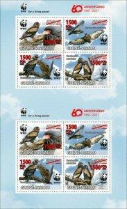 Guinea-Bissau - 2021 WWF 60 Years, Bird - 8 Stamp Sheet - GB210231d1