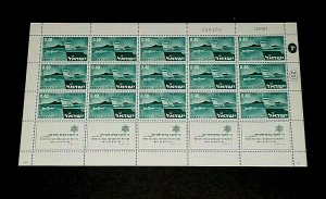 1967, ISRAEL #346, STRAIT OF TIRAN ISSUE, 0.40, SHEET/ 15 , MNH, NICE! LQQK!