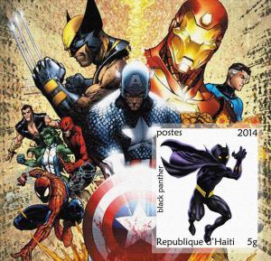 HAITI SHEET CINDERELLA IMPERF HEROES COMIC ANIMATION HERO