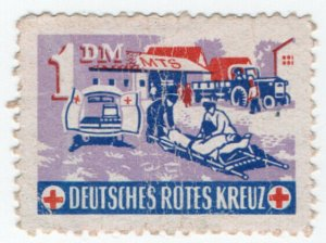 (I.B-CKK) Germany Cinderella : Red Cross Fund 1DM (ambulance)