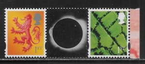 Great Britain N. Ireland 47, Scotland 50 from Visions of Universe Booklet MNH