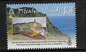 PITCAIRN ISLANDS,701, MNH, ISLAND SITES & CHILDREN DRAWINGS