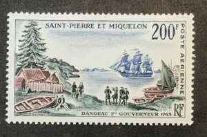 St Pierre & Miquelon C27 Ship MNH SCV $26.00