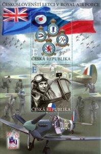 Czech Republic 2019 MNH Stamps Souvenir Sheet Battle of England Air Force Planes