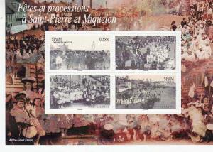 St Pierre & Miquelon - Festivals 4 Stamp Sheet 19N-002