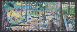 United Nations - New York # 847a, International Year of Freshwater, NH, 1/2 Cat.
