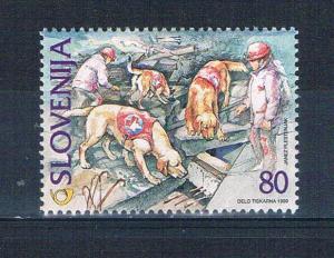 Slovenia 350 MNH Rescue Dogs 1999 (S0979)+