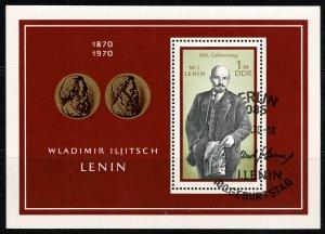 GERMANY DDR 1970 BIRTH CENTENARY of LENIN USED (VFU) P.14x13.5 SG MSE1283 SUPERB