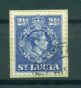 St. Lucia sc# 116 (2) used o/p cat value $.25