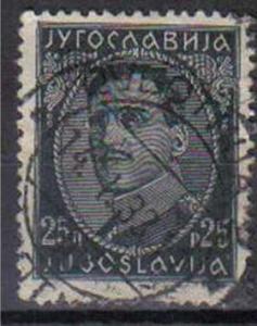 YUGOSLAVIA, 1931, used 25p. black