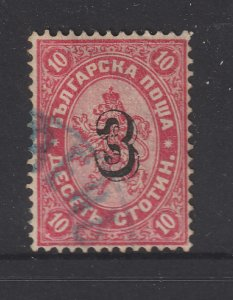 Bulgaria a used 3 on 10s from 1884