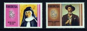 RHODESIA Queen Elizabeth II 1970-71 Famous Rhodesians SG 457 & SG 458 MINT