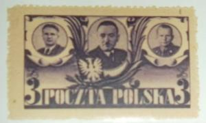 POLAND 1946 BIERUT MORAWSKI & ZYMIERSKI SCOTT #391 MNH