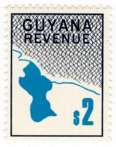 (I.B) British Guiana (Guyana) Revenue : Duty Stamp $2