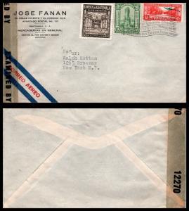 Goldpath: Guatemala Cover 1943. War Censor. _CV17_P9