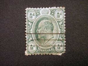 TRANSVAAL, 1902, used, ½d. green