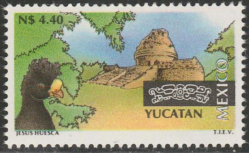 MEXICO 1802, N$4.40 Tourism Yucatan, bird, archeology. Mint, Never Hinged F-VF.