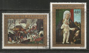 GABON  C132-C133  USED,  CHRISTMAS 1972