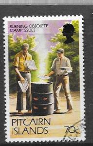 Pitcairn Islands #171A 70c Burining Stamp issued(MNH)CV$2.40