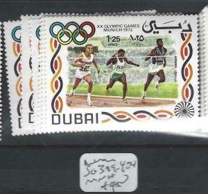 DUBAI   (PP1403B)   OLYMPICS  SG 399-404   MNH