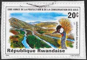 Rwanda 1001 Used - Soil Conservation Year - Swamp Drainage - On Paper