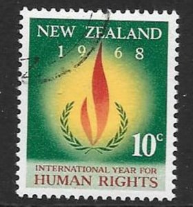 NEW ZEALAND SG891 1968 HUMAN RIGHTS FINE USED