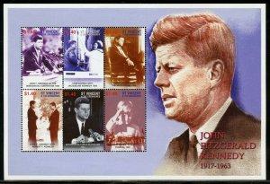ST, VINCENT GREN. JOHN FITZGERALD  KENNEDY 1917-1963 SHEET II MINT NEVER  HINGED