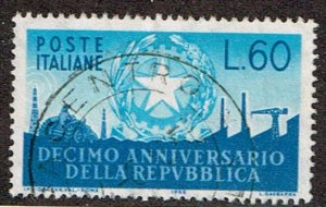 Italy # 712  Used