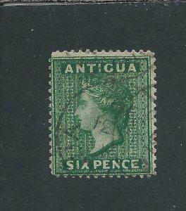 ANTIGUA 1884-87 6d DEEP GREEN FU SG 29 CAT £120