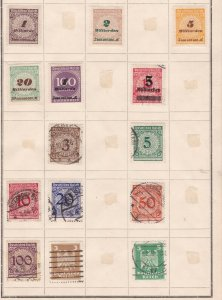 GE:OLD REICH ^^^1923 HIGH VALUES Inlation ( MILLIARDEN)  on  page$$@ ta1029ge9