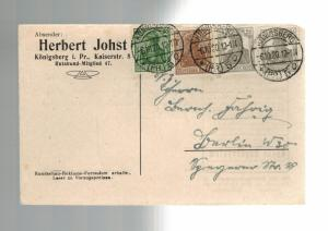 1920 Germany Konigsberg Stamp Collector Postcard cover Michel # 143