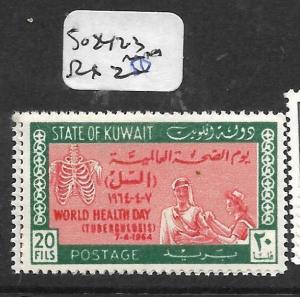KUWAIT (P0503B)  WORLD HEALTH DAY SG 242-3  MNH
