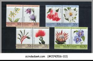 BEQUIA - 1985 FLOWERS - 8V - MINT NH