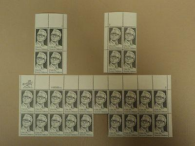 USPS Scott 1874 15c 1980 Everett Dirksen Lot of 3 Plate B...