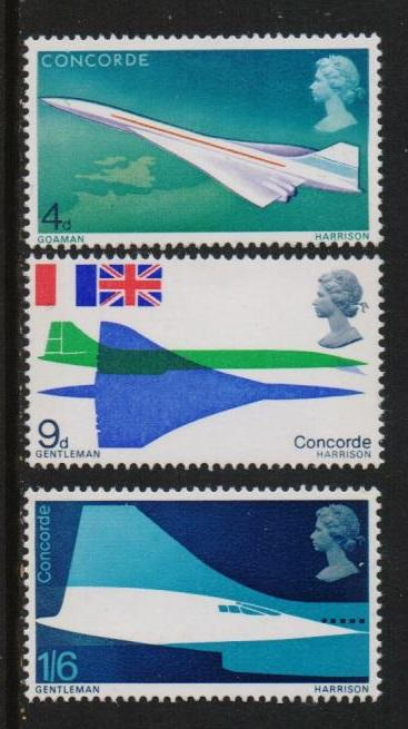 Great Britain 1969 MNH Concorde first flight