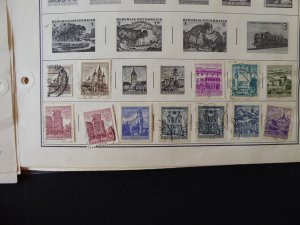 Austria 1850-1959 Stamp Collection on Album Pages