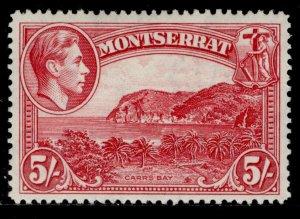 MONTSERRAT GVI SG110a, 5s rose-carmine, VLH MINT. Cat £30.
